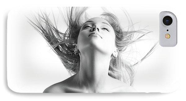 Girl With Flying Blond Hair IPhone 7 Case by Olena Zaskochenko