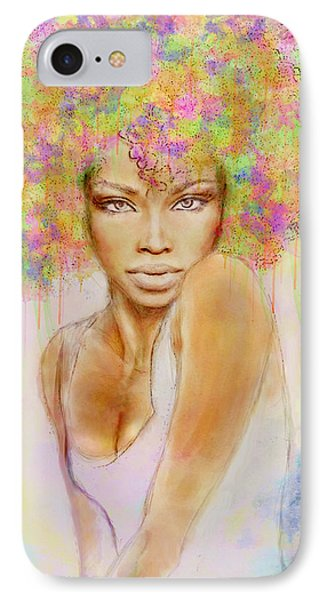 Girl With New Hair Style IPhone Case by Lilia D