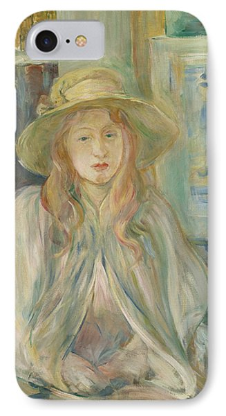 Girl With Straw Hat IPhone Case