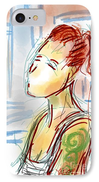 Girl With The Green Tattoo IPhone Case