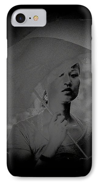 Girl With Umbrella IPhone Case by Patrick Kain