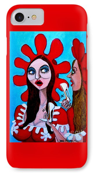 IPhone Case featuring the painting Countrygirls Amazed By A Pair Of Stilettos by Don Pedro De Gracia