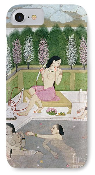 Girls Bathing IPhone Case by Indian School