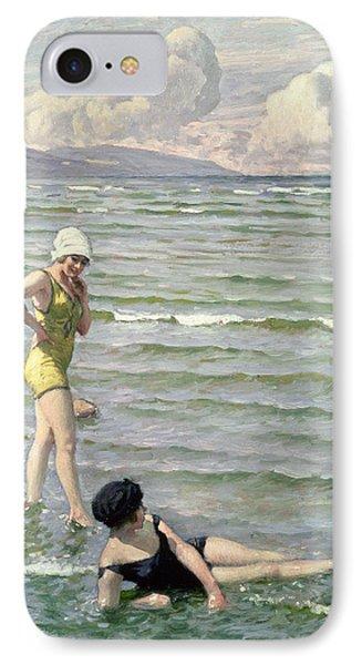 Girls Bathing IPhone Case by Paul Fischer