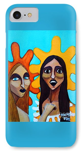 IPhone Case featuring the painting Girls Caught In Fraganti by Don Pedro De Gracia