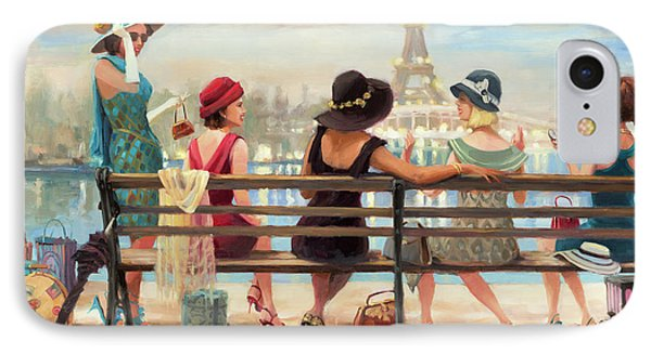 Eiffel Tower iPhone 7 Case - Girls Day Out by Steve Henderson