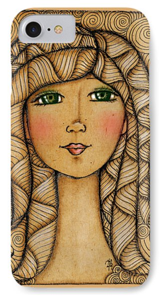 Girl's Face Phone Case by Delein Padilla
