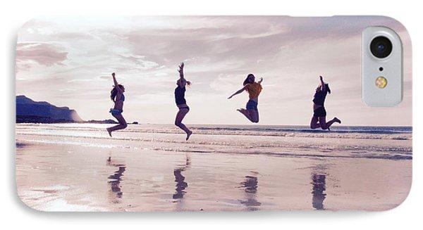 Girls Jumping On Lofoten Beach IPhone Case by Tamara Sushko