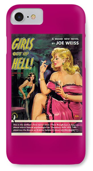 IPhone Case featuring the painting Girls Out Of Hell by George Gross