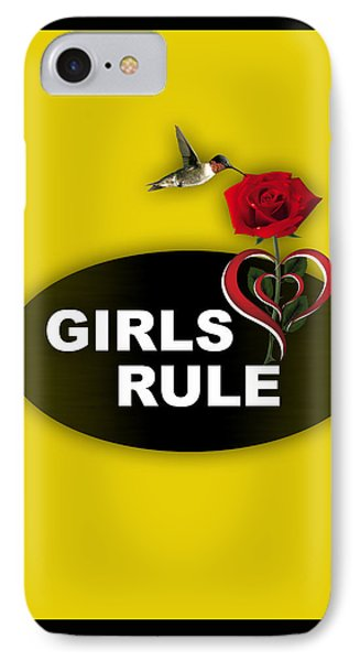 Girls Rule Collection IPhone Case by Marvin Blaine