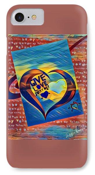 Give Love IPhone Case by Vennie Kocsis