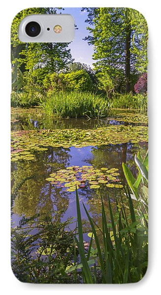 IPhone Case featuring the photograph Giverny France - Claude Monet's Pond  by Allen Sheffield