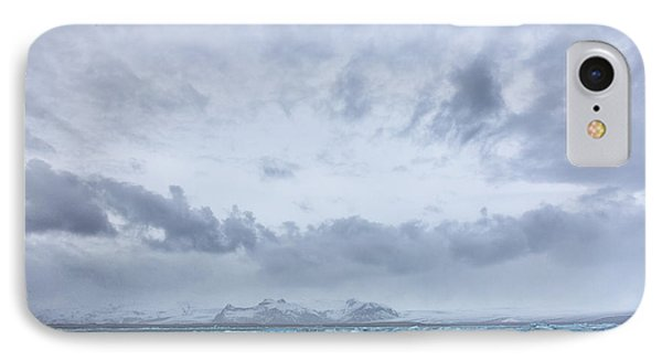 IPhone Case featuring the tapestry - textile Glacial Lagoon Iceland by Kathy Adams Clark