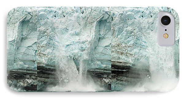 Glacier Calving Sequence 1 IPhone Case