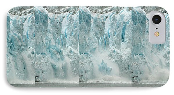 Glacier Calving Sequence 2 V1 IPhone Case