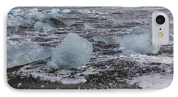 IPhone Case featuring the tapestry - textile Glacier Ice 3 by Kathy Adams Clark