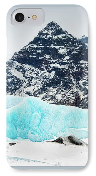 IPhone Case featuring the photograph Glacier Landscape Iceland Blue Black White by Matthias Hauser