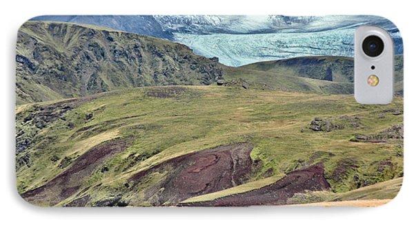 Glacier Mountains Meadows Horses Phone Case by David Halperin