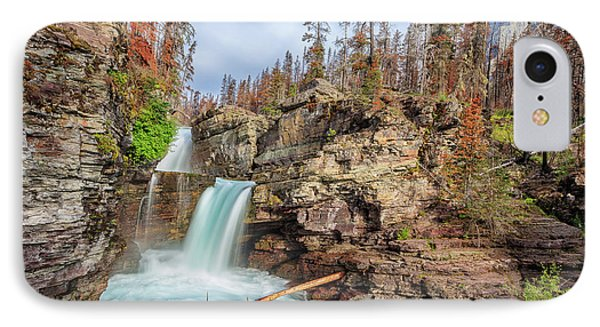 Glacier National Park Chilly Waterfall IPhone Case by Andres Leon