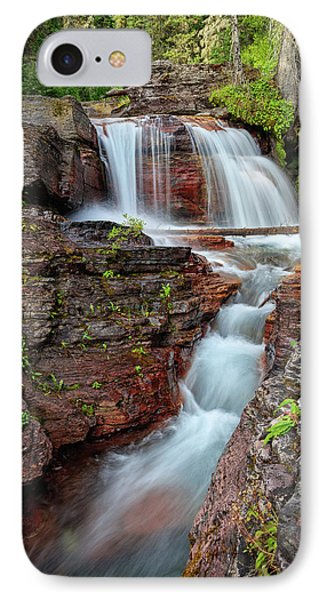 Glacier National Park Waterfall 2 IPhone Case