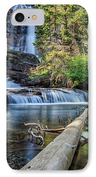 Glacier National Park Waterfall 3 IPhone Case