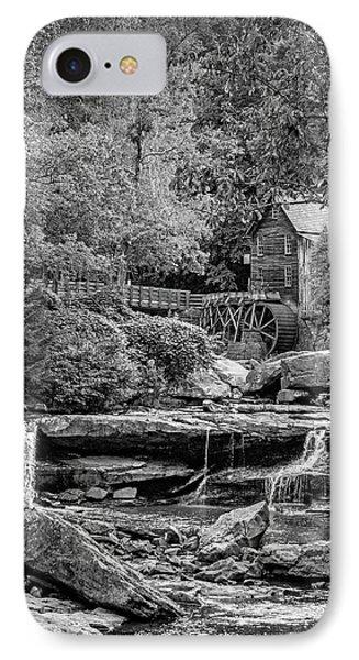 Glade Creek Grist Mill 3 Bw IPhone Case by Steve Harrington