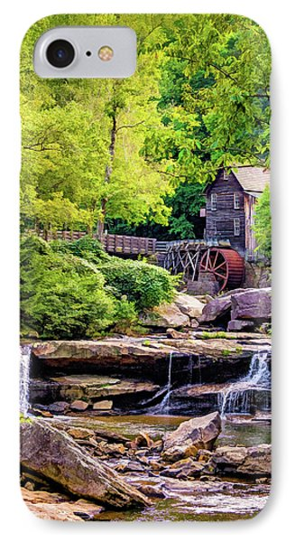 Glade Creek Grist Mill 3 - Paint IPhone Case by Steve Harrington