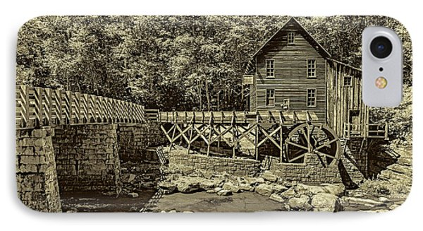 Glade Creek Grist Mill 3 - Sepia IPhone Case