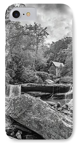 Glade Creek Grist Mill 4 Bw IPhone Case