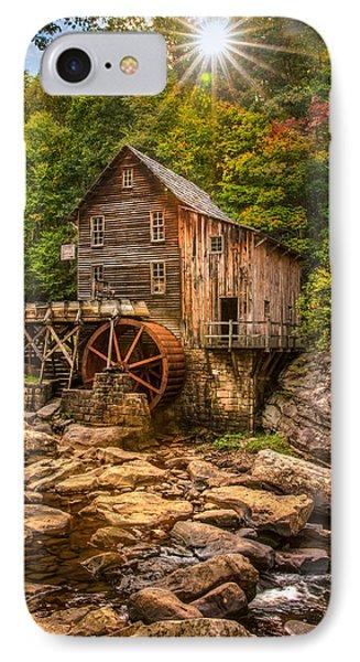 Glade Creek Mill Fall IPhone Case by Rebecca Hiatt