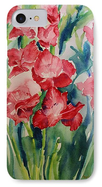 Gladioli Still Life IPhone Case by Geeta Biswas