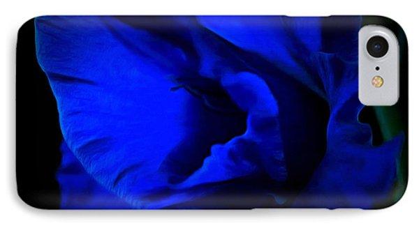 Gladiolus Of Blue IPhone Case by Krissy Katsimbras
