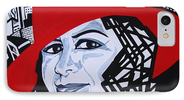 Glafira Rosales In The Red Hat Phone Case by Yelena Tylkina
