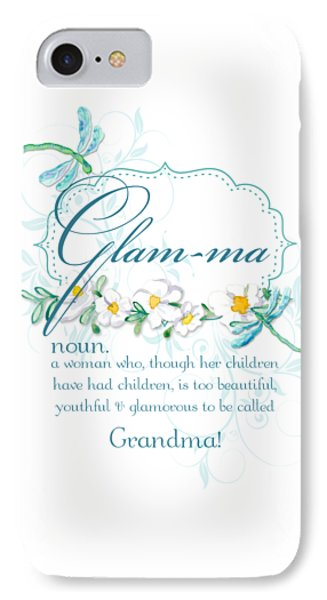 Simple iPhone 7 Case - Glam-ma Grandma Grandmother For Glamorous Grannies by Audrey Jeanne Roberts