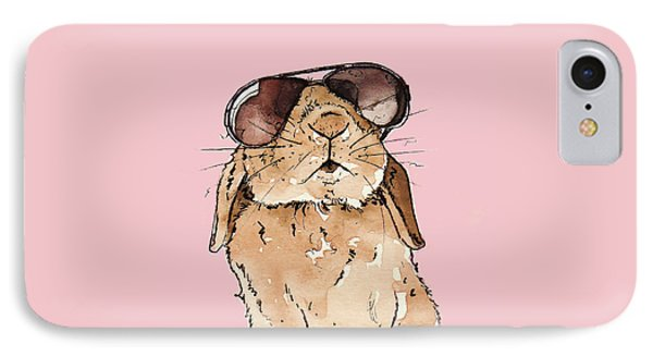 Glamorous Rabbit IPhone Case by Katrina Davis