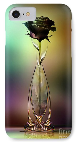 IPhone Case featuring the digital art Glasblower's Rose by Johnny Hildingsson