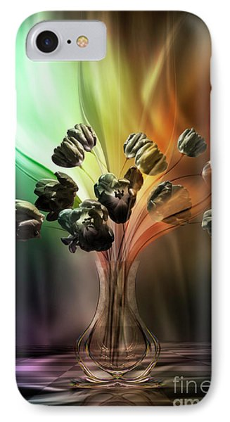 IPhone Case featuring the digital art Glasblower's Tulips by Johnny Hildingsson