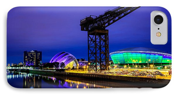 Glasgow At Night IPhone Case by Ian Good