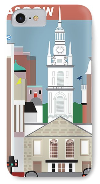 Glasgow Scotland Vertical Scene IPhone Case by Karen Young