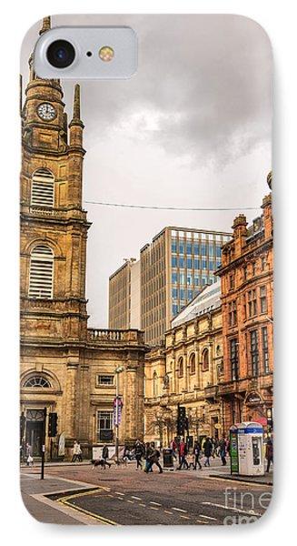 Glasgow Street Scene IPhone Case by Antony McAulay
