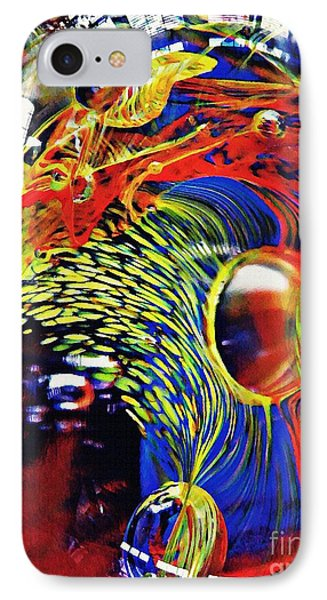 Glass Abstract 630 Phone Case by Sarah Loft