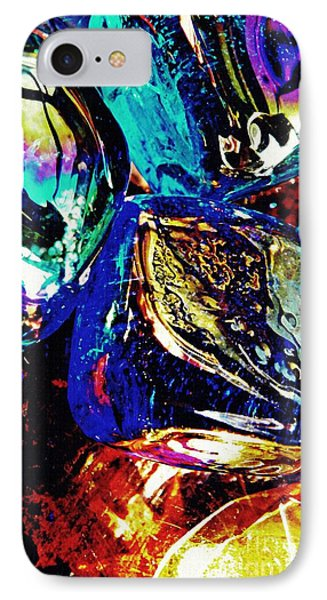 Glass Abstract 687 Phone Case by Sarah Loft