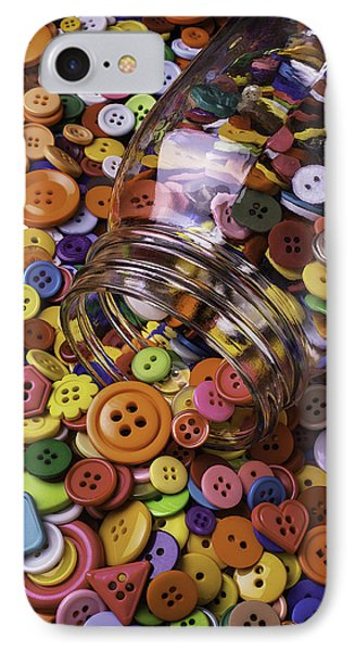 Glass Jar Spilling Buttons IPhone Case