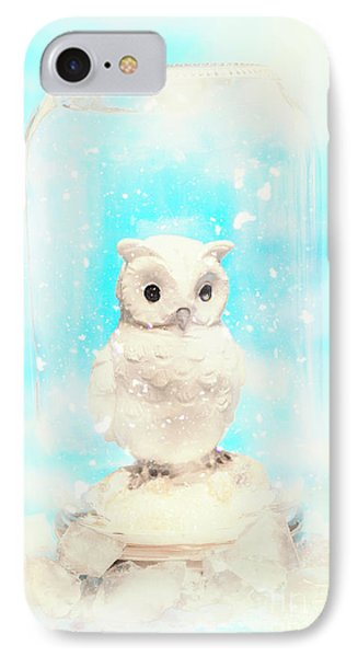 Glass Jar Winter Owl IPhone Case by Jorgo Photography - Wall Art Gallery