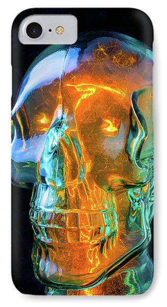 Glass Skull IPhone Case by Garry Gay