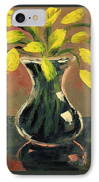 Glass Vase And Yellow Flowers IPhone Case
