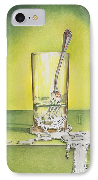 Glass With Melting Fork Phone Case by Melissa A Benson