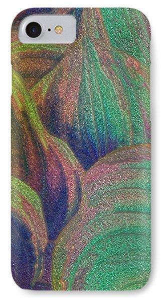 Glassed Leaf IPhone Case by Jack Zulli