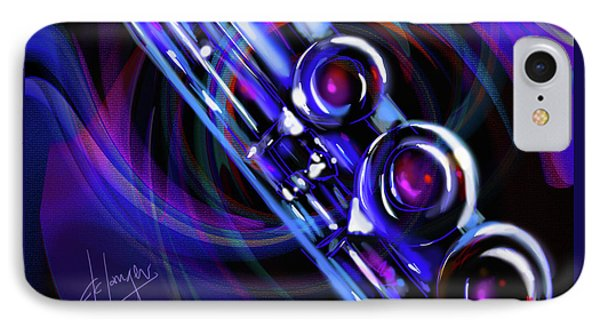 IPhone Case featuring the painting Glassical Flute by DC Langer