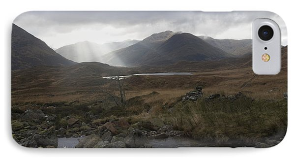 Glen Affric Storm Phone Case by Sue Arber
